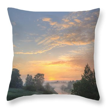 In The Morning At 04.27 Throw Pillow