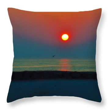 In The Morning Sun Throw Pillow by Bill Cannon