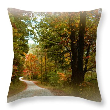 In The Mountains Of Georgia Throw Pillow