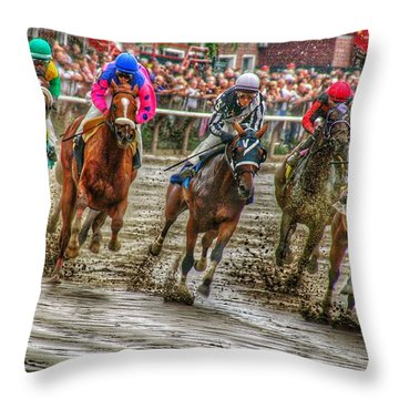 In The Mud Throw Pillow
