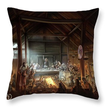 In The Name Of Odin Cover Art Throw Pillow