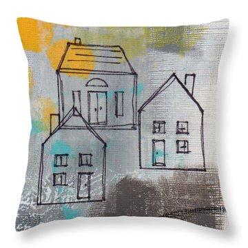 In The Neighborhood Throw Pillow by Linda Woods