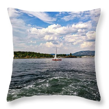 In The Oslo Fjord Throw Pillow