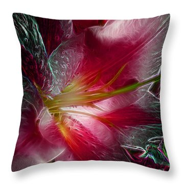 In The Pink Throw Pillow by Stuart Turnbull