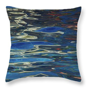 In The Pool Throw Pillow