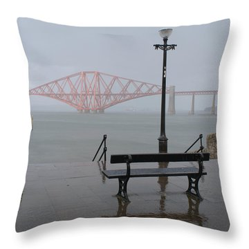 In The Rain Throw Pillow
