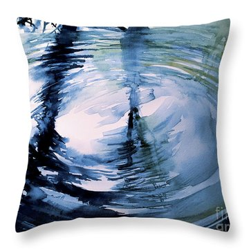 In The Ripple Throw Pillow