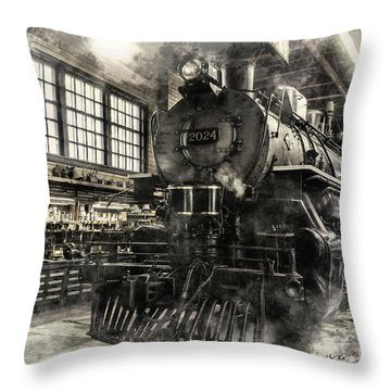In The Roundhouse Throw Pillow