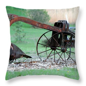 In The Rust Home Throw Pillow
