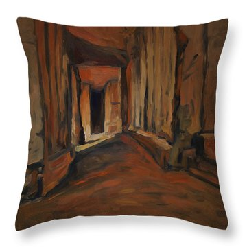 l'Origine de Maestricht Sint Pieter Maastricht  Throw Pillow
