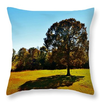 In The Shadow Of A Tree Throw Pillow