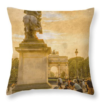 Paris, France - In The Shadow Of Glory Throw Pillow