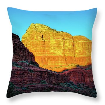 In The Shadow Of The Bell Throw Pillow by Jon Burch Photography