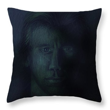 In The Shadows Of Despair Throw Pillow by Arline Wagner