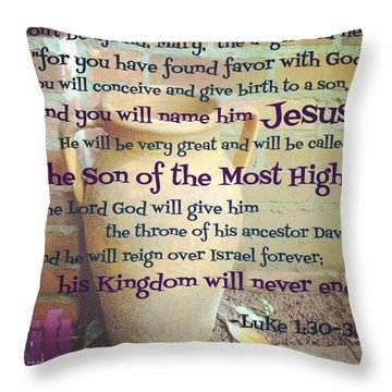 In The Sixth Month Of Elizabeth's Throw Pillow