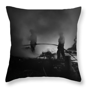 In The Smoke Throw Pillow