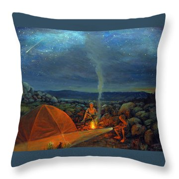 In The Spotlight Throw Pillow by Donna Tucker