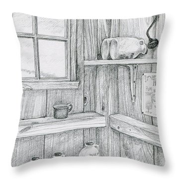 In The Sugar House Throw Pillow