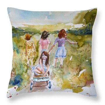 In The Summer Time Throw Pillow