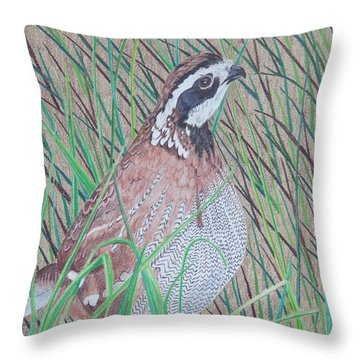 In The Tall Grass Throw Pillow by Anita Putman