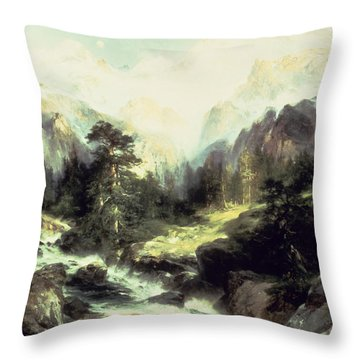 In The Teton Range Throw Pillow