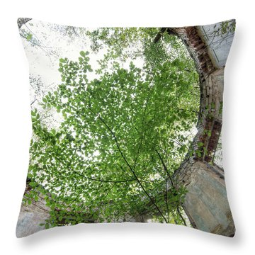 In The Tower Throw Pillow by Michal Boubin