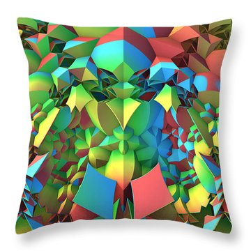 Throw Pillow featuring the digital art In The Tropics by Lyle Hatch