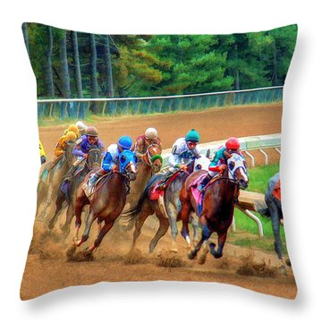 In The Turn #2 Throw Pillow