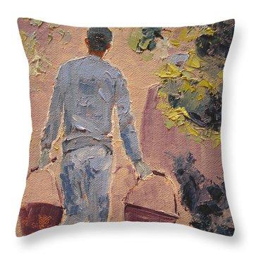 In The Vineyard Throw Pillow by Barbara Andolsek