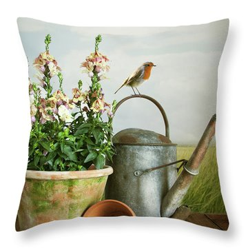 In The Vintage Garden Throw Pillow