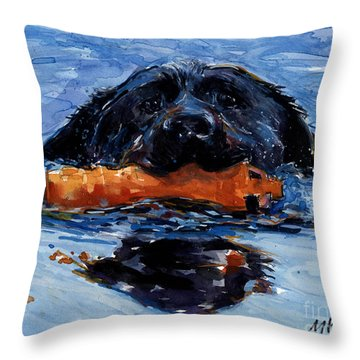 In The Wake Throw Pillow by Molly Poole