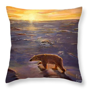 In The Wilderness Throw Pillow