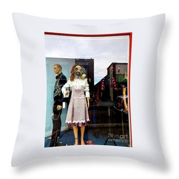 In The Window  Throw Pillow by Gary Bridger