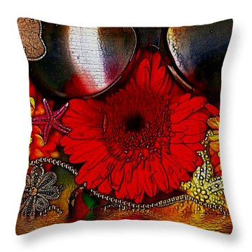 In The Wood Of Fantasy By The Water Throw Pillow by Pepita Selles