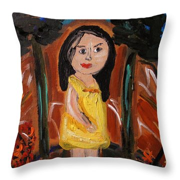 In The Woodlands Throw Pillow by Mary Carol Williams