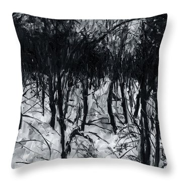 In The Woods 7 Throw Pillow
