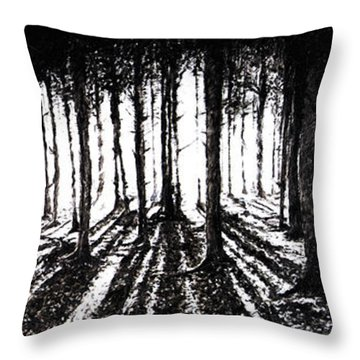 In The Woods 2 Throw Pillow