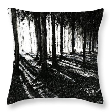 In The Woods 3 Throw Pillow