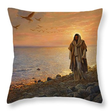 Throw Pillow featuring the painting In The World Not Of The World by Greg Olsen