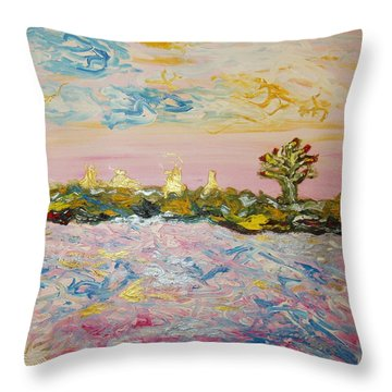 In The World Of Illusions Throw Pillow