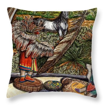 In Times Of Need Throw Pillow