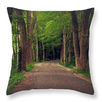 In To The   Deep Dark Woods  Throw Pillow by MaryLee Parker