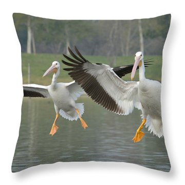 In Unison Throw Pillow by Fraida Gutovich