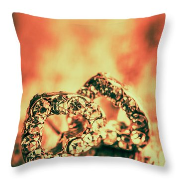 In Valentine Style Throw Pillow