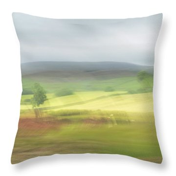 Throw Pillow featuring the photograph In Yorkshire 1 by Dubi Roman
