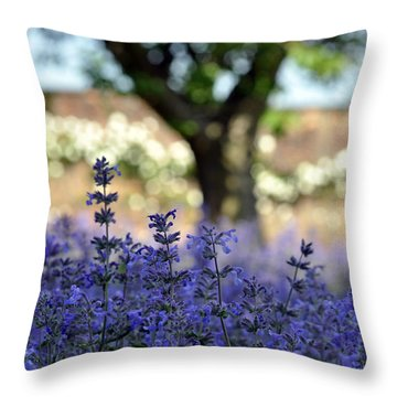 Throw Pillow featuring the photograph In Yorkshire 2 by Dubi Roman