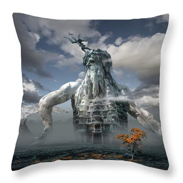 Inadvertent Metamorphosis Or King Of My Castle Throw Pillow
