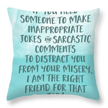 Inappopriate Jokes- Empathy Card By Linda Woods Throw Pillow