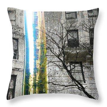 Throw Pillow featuring the mixed media Inbetween  by Tony Rubino