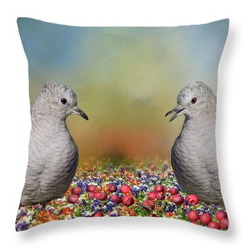 Throw Pillow featuring the photograph Inca Doves by Bonnie Barry